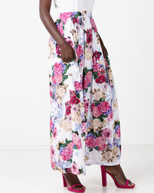 Utopia Viscose Floral Maxi Skirt Purples