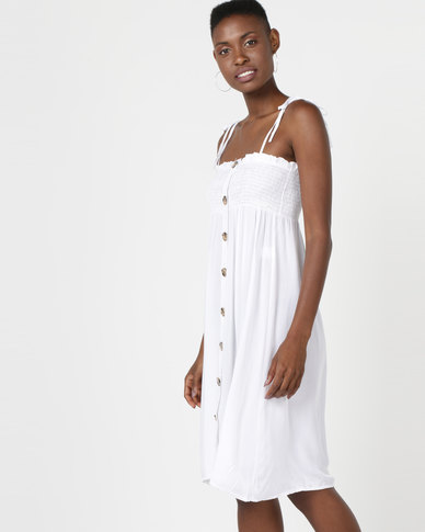 a910e82b8ad6 Utopia Button Through Dress White | Zando