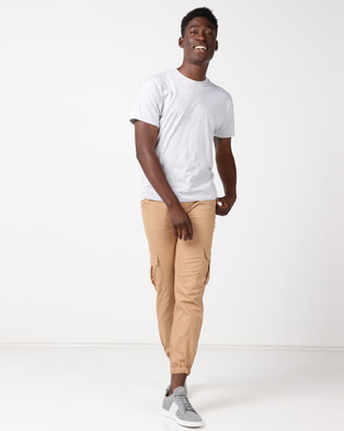 Utopia Cotton Cargo Joggers Camel