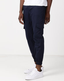 Utopia Cotton Cargo Joggers Navy