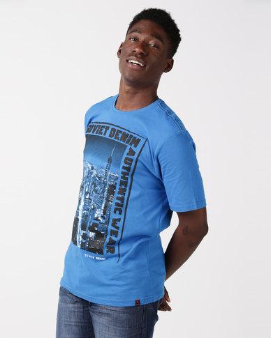 Soviet M Sundowns T-Shirt Blue