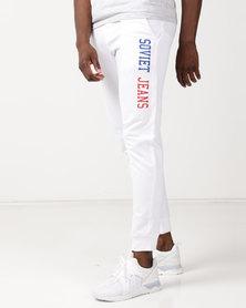 Soviet M Noah Track Pants White
