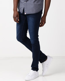 Soviet M Germain Slim Fit Jeans #9 Dk Indigo
