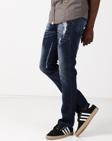 Soviet M Spurs Slim Fit Jeans #9 Indigo