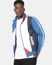 Cutty Camron Retro Zip Through Track Top Petrol