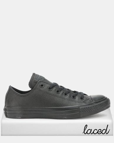 dc5596f3f2b6 Converse Chuck Taylor All Star Ox Black Sneakers Mono