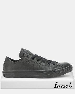 Converse Chuck Taylor All Star Ox Black Sneakers Mono e0a061fa12d7e