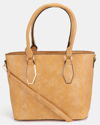 Utopia Laser Handbag Camel