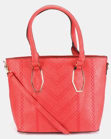 Utopia Laser Handbag Red
