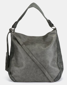 Utopia Tassel Handbag Dark Grey