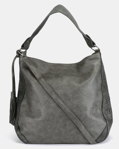 Utopia Tassel Handbag Dark Grey