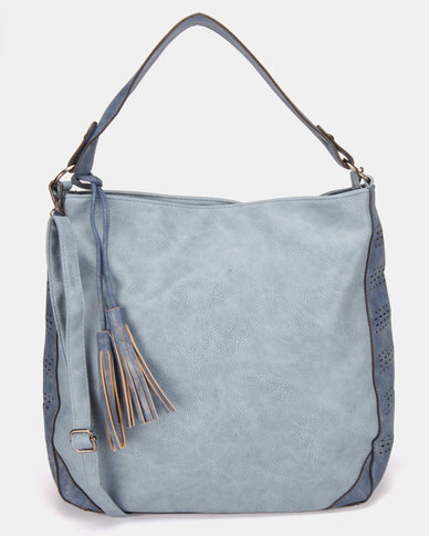6497136832 Utopia Tassel Handbag Light Blue
