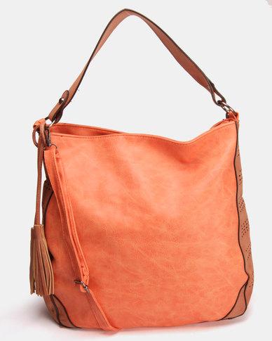 Utopia Tassel Handbag Peach