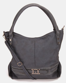 Utopia Buckle Trim Handbag Navy