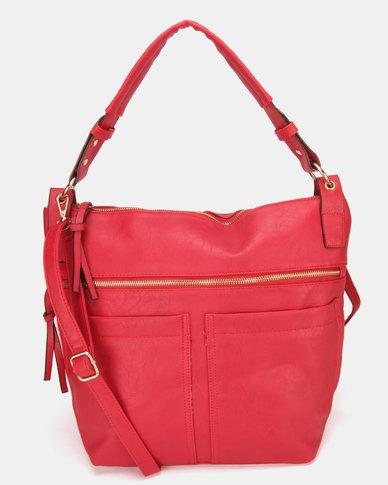 utopia pocket handbag red zando