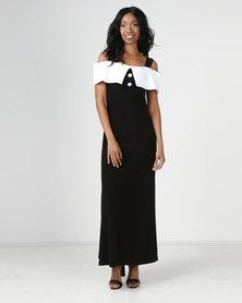 Famous Lola Dress Black/White