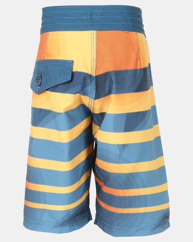Lizzard Leal Teen Boys Boardie Shorts Blue