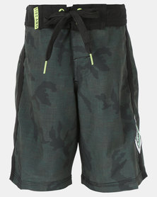 Lizzard Marsh Teen Boys Boardie Shorts Brown