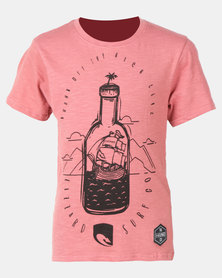 Lizzard Jennings Teen Boys Tee Pink