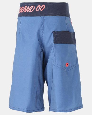 Lizzard  Teen Boys Boardie Shorts Blue