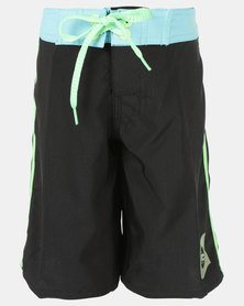 Lizzard Teen Boys Boardie Shorts Black