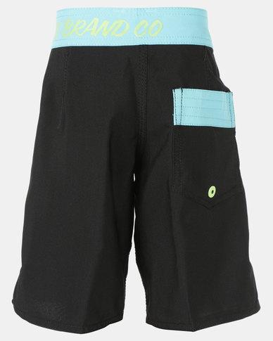 Lizzard Teen Boys Boardie Shorts Black