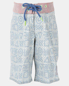 Lizzard Marcel Teen Boardie Shorts Blue