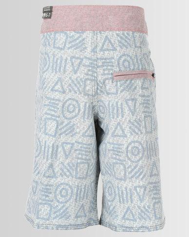 Lizzard Marcel Teen Boardie Shorts Blue