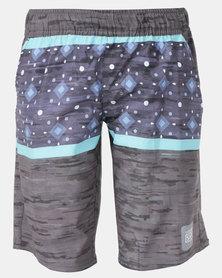 Lizzard Jaren Teen Boardie Shorts Black