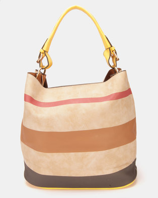 Utopia Stripe Handbag Yellow