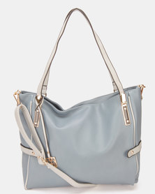 Utopia Contrast Handbag Blue