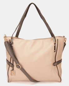 Utopia Contrast Handbag Taupe