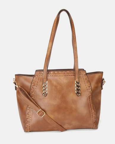 Utopia Trim Handbag Choc