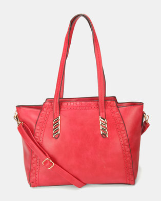 Utopia Trim Handbag Red