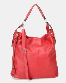 Utopia Slouchy Handbag Red