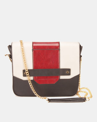 9a03efa165 Utopia Colour-Block Crossbody Bag Black