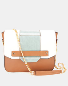Utopia Colour-Block Crossbody Bag Tan