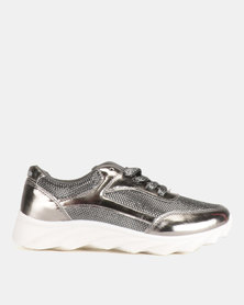 Pierre Cardin Chunky Fashion Sneakers Pewter