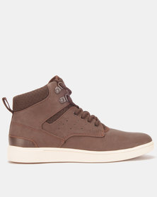 Steve Madden Fridged Sneakers Cognac/Brown