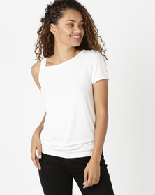 N'Joy One Shoulder Top Cream