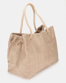 UB Creative Fabric Beach Bag Stone