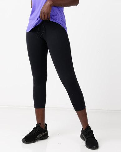 FIT Gymwear Leggings Zipper Black