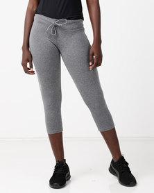 FIT Gymwear Leggings Zipper Grey