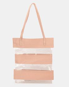 UB Creative PVC Stripe Bag Pink
