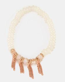 UB Creative Beaded Bracelet 3 Pack White