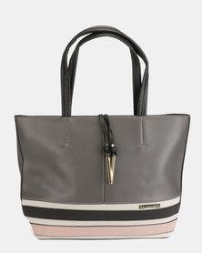 Blackcherry Bag Contrast Shopper Bag Grey
