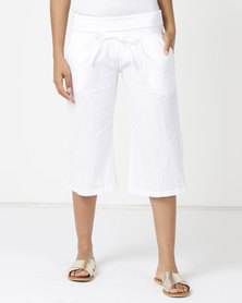 Lizzy Wave 3/4 Walkshorts White