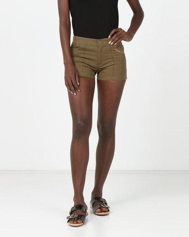 Lizzy Triffle Ladies Walkshorts Khaki