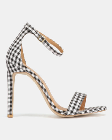 Public Desire Avril Barely There Heels Gingham