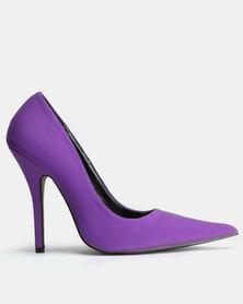 Public Desire Tease Sharp Pointed Toe Court Heels Purple